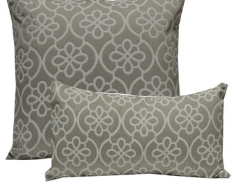 Decorative Pillow Cover Medallion Grey