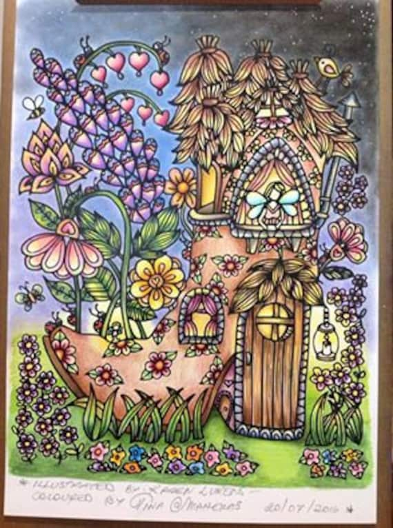 Happyville Fairy House 2 1 Adult Coloring Book Page Printable Instant Download