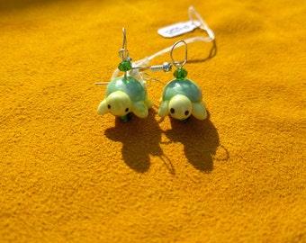 Glass Turtle Earrings
