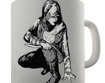 Hand Drawn Assassin Ceramic Novelty Gift Mug