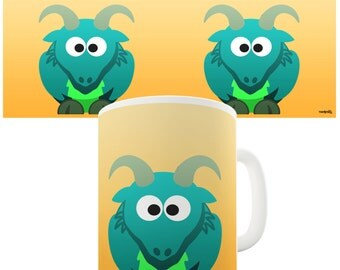 Green Dragon Ceramic Mug