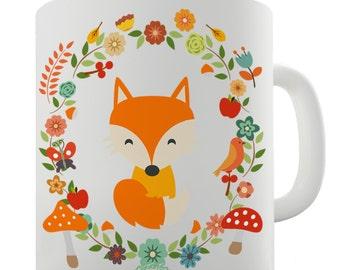 White Fox Ceramic Funny Mug