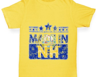 Boy's Made In NH New Hampshire T-Shirt