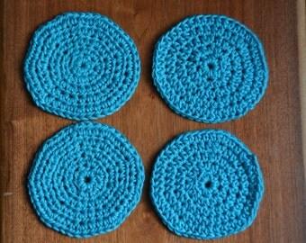 Crochet coasters, set of 4