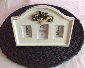 French Country Garden Terrace Picture Frame