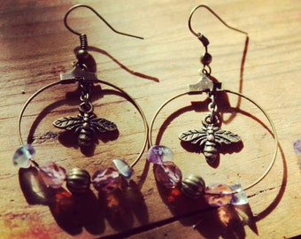 Bees. Bee earrings