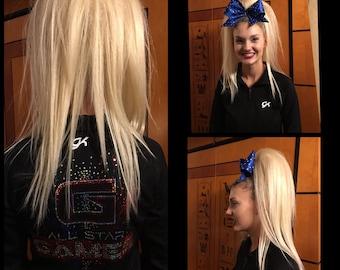 """16"""" Punk Pony 100% Human Hair Cheer Hair Piece"""