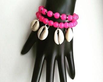 Pink Island Bracelet Set