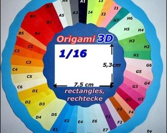 ORIGAMI 3D (100rectangles/rectangles/rectangulars) 1/16choix couleurs colour choice