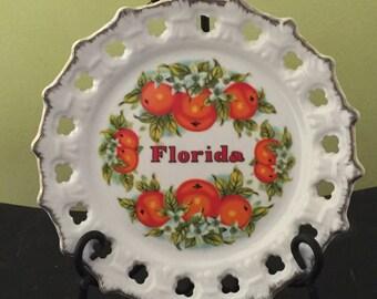 Vintage Florida Souvenir Collectible Plate