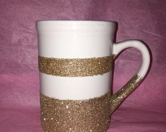 Glitter Mug/ Gold Glitter mug