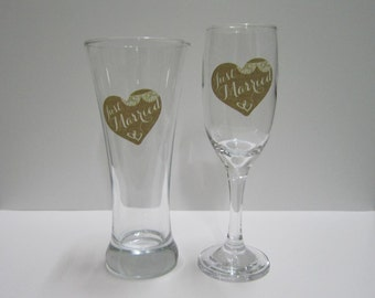 Wedding Toasting Glasses - Just Married