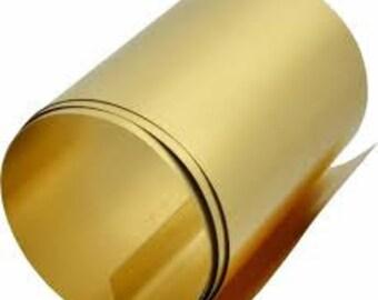 """Brass Shim.   0.010"""" thick  (0.254 mm)"""