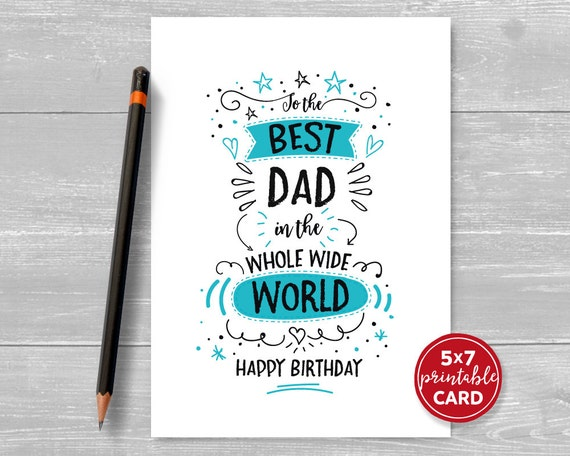 Exceptional image regarding happy birthday dad cards printable