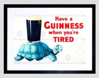 Advert Drink Alcohol Irish Stout Ale Tortoise Art Print Poster FEBB7387