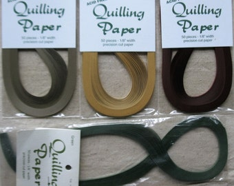 """1/8"""" Quilling Paper, 50 pcs of each color, 4 colors, Lake City Craft Company"""