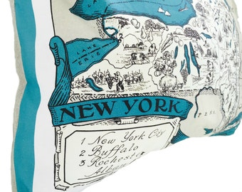New York State Pillow Cover with Insert