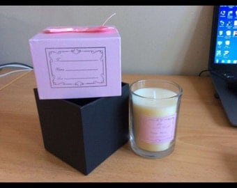 Candles inside gift box