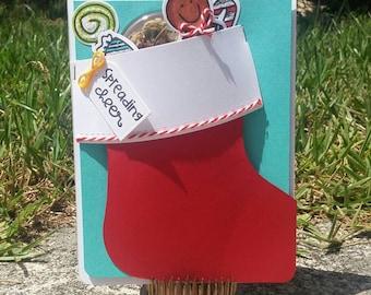 Christmas Cannabis Greeting Card #1