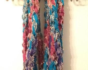 Finger crocheted scarf