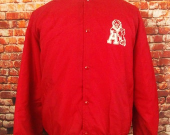 Albright University Red Varsity Satin Jacket sz. XL