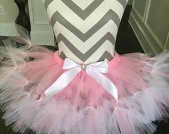 Baby pink and white tutu birthday tutu newborn tutu sparkle tutu