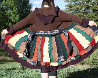 Upcycled Autumn Sweater Dress