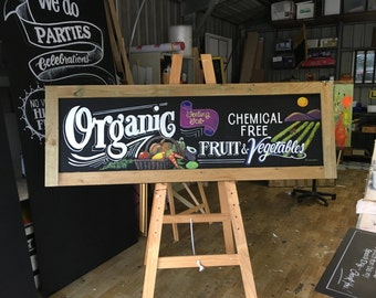 Organic Fruit and Vegetables sign
