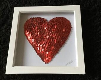3D BUTTERFLY HEART ART Handmade Red Butterflies