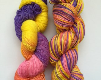 Tropical Twist Hand Dyed Sock Yarn 100g DYED TO ORDER