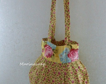 Reversible bags, shoppers, bag, bags, roses, hydrangeas, Mille fiori, gift girl girlfriend, summer, mother's day, shopping bag,.