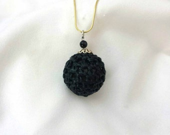 Disco Pendant - Black Hand made