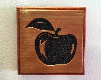 Refrigerator Magnet - Black Sand Apple