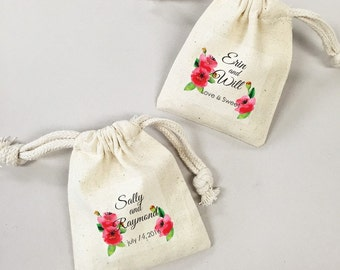 24 Pcs. Personalized Artwork Poppies Favor Bags (PWPLM45-CL)