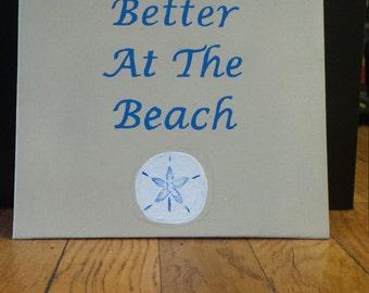 Beach quote canvas