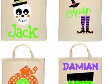 Halloween Trick or Treat Bags, Personalized Halloween Bag, Halloween Goodie Bags, Personalized Trick or Treat Bags, Halloween Favor Bags