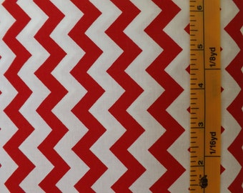 Choice Fabrics Chevrons, Red, 48053, red and white chevron, quilting fabric