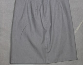 Talbots Pinstripe Skirt. Black and White Striped. Lined