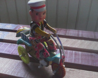 Vintage Tin Toy Celluloid Wind Up Toy