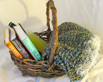 Knitted Throw, Wrap, Olive Speckled, Abalone, Diverse Blanket, Under 150 USD