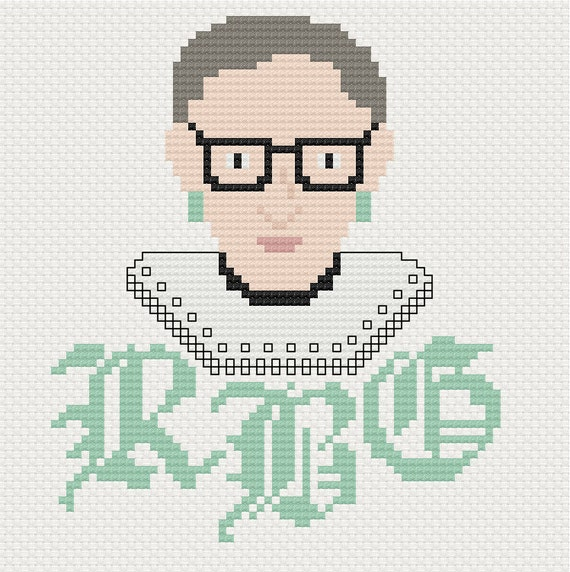 Ruth Bader Ginsburg Cross Stitch Pattern From