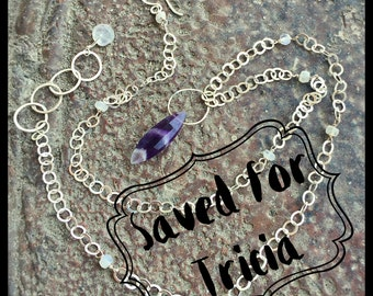 White Wedding (with amethyst) Necklace
