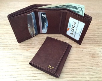 Valentine's Gift • Valentines Day Gift- Valentines's gift for him - 3rd anniversary gift - leather wallet - trifold wallet • Toffee* 7730