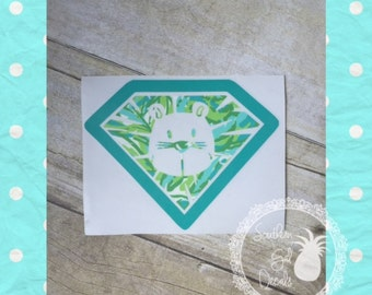 Alpha Delta Pi/ADPi Diamond Lion Inspired Car Decal