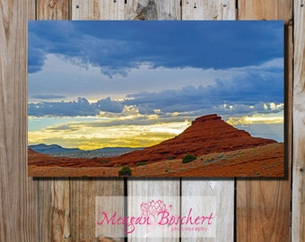 Pryor Mountain Sunset - Montana Photograph on Canvas