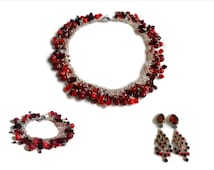 Custom Drag Queen Jewelry Set - One of a Kind - Gemstone and Swarovski Crystal - Choice of Color Scheme - Made to Order