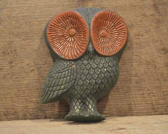Vintage Owl Wall Decor , Funky Owl , Woodland Theme , Foam Resin Owl