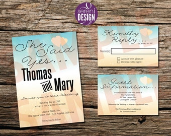 Wedding Invitations and Guest Reply
