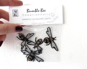 Bumble bee embroidery embellishments appliques