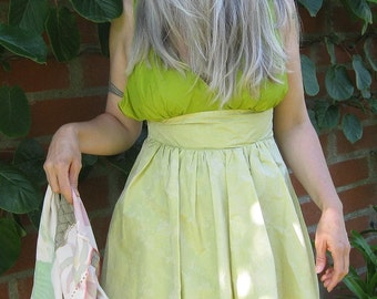 Dress green flower